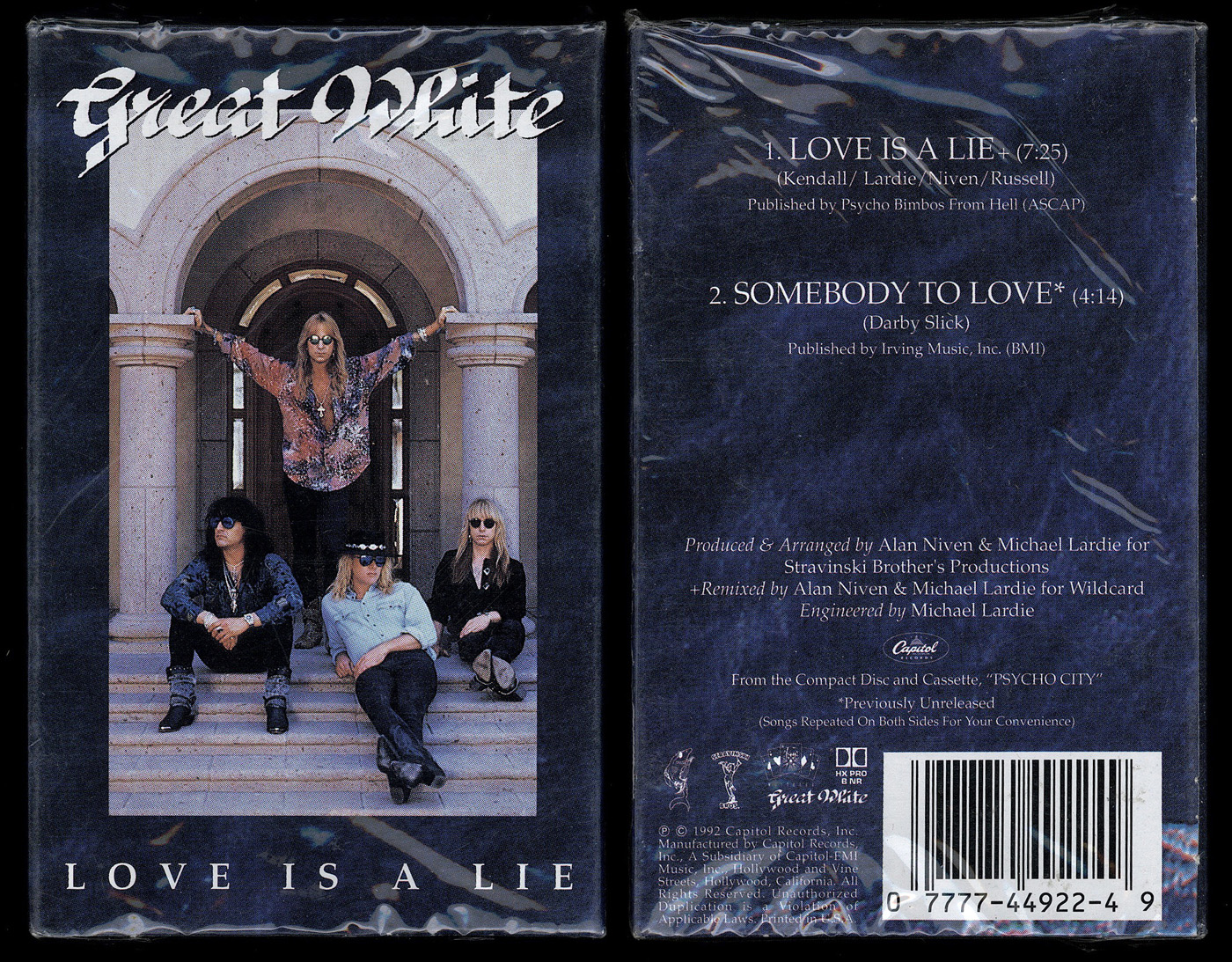 Great White cassingle front and back